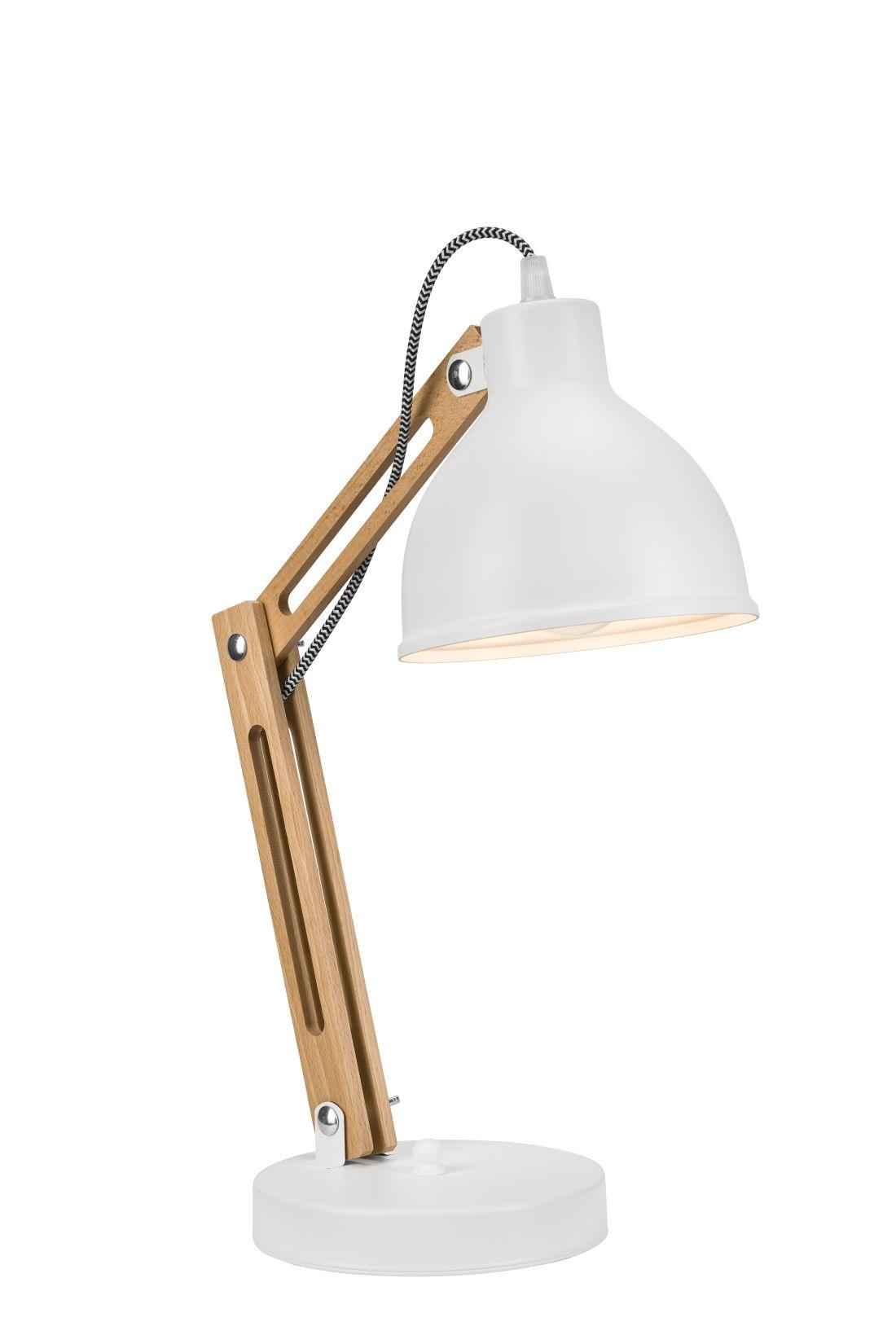 Schreibtischlampe moderne Arbeitsleuchte Holz 44cm