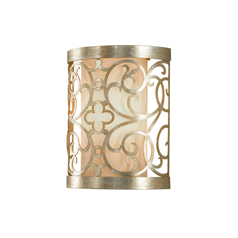 Wandlampe für Flur Blattsilber Ornament JASMINA