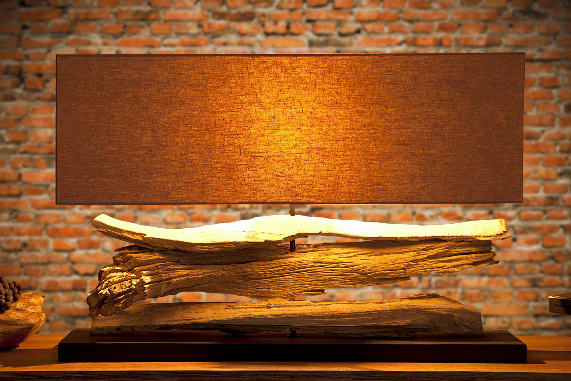 Individuelle Tischlampe 50cmx80cm Treibholz