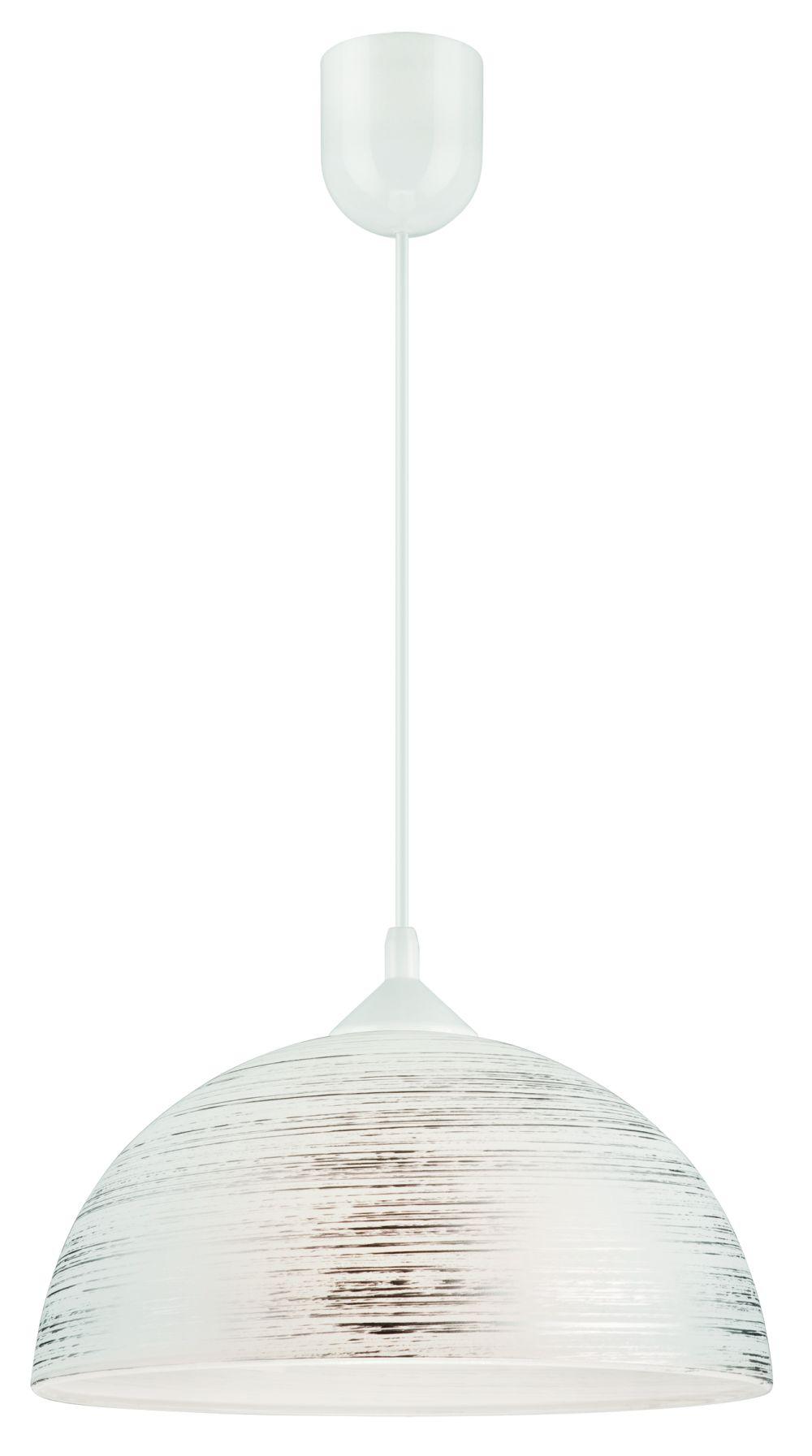 Hängelampe in Silber Glas Esszimmer Leuchte