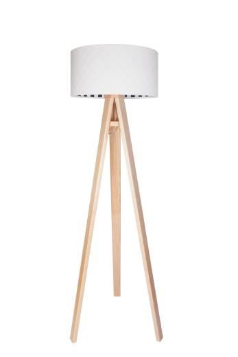 Stehlampe Weiß Schwarz Retro Dreibein 140cm Wohnzimmer