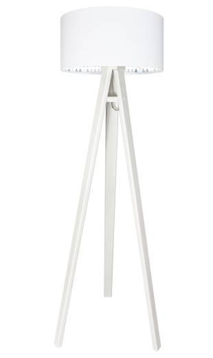 Stehlampe FABIUS Weiß Tropfen Kinder Dreibein 140cm