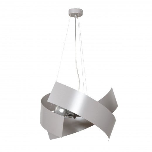 Moderne Hängelampe Grau Chrom Silber Design 3x E27