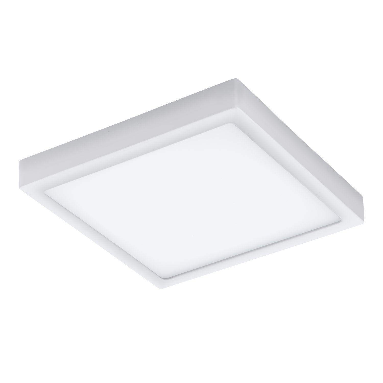 Flache LED Deckenaußenleuchte Argolis Weiß