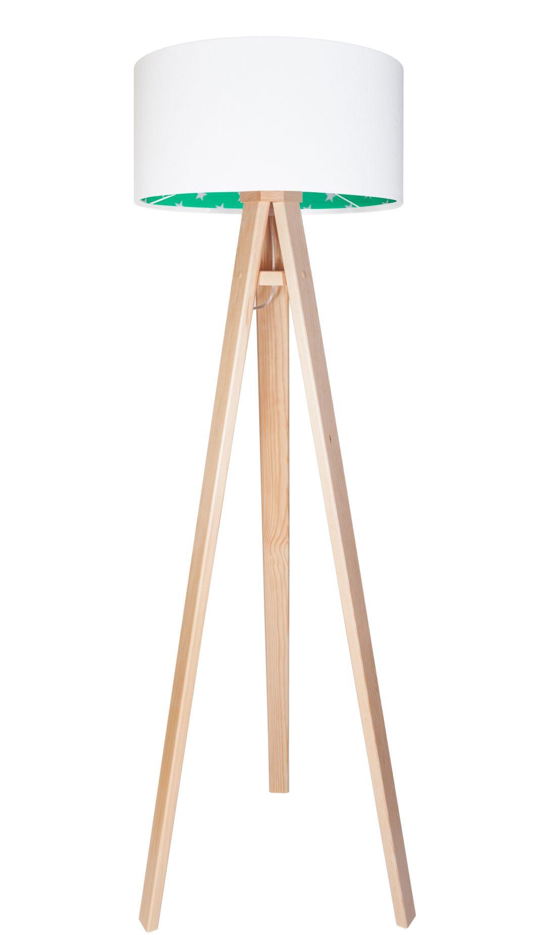 Stehlampe BECKA Weiß Grün Kinder Dreibein 140cm