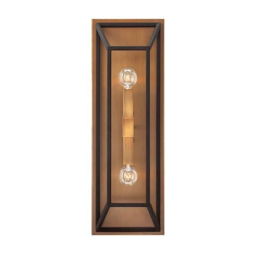 Vintage Wandlampe PLANK Braun Bronze Design Lampe
