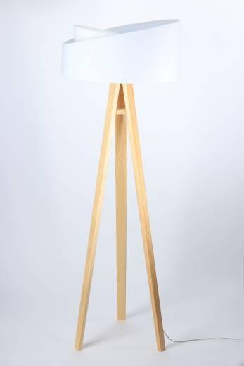 Stehlampe Höhe Braun Dreibein 145cm Wohnzimmer Holz
