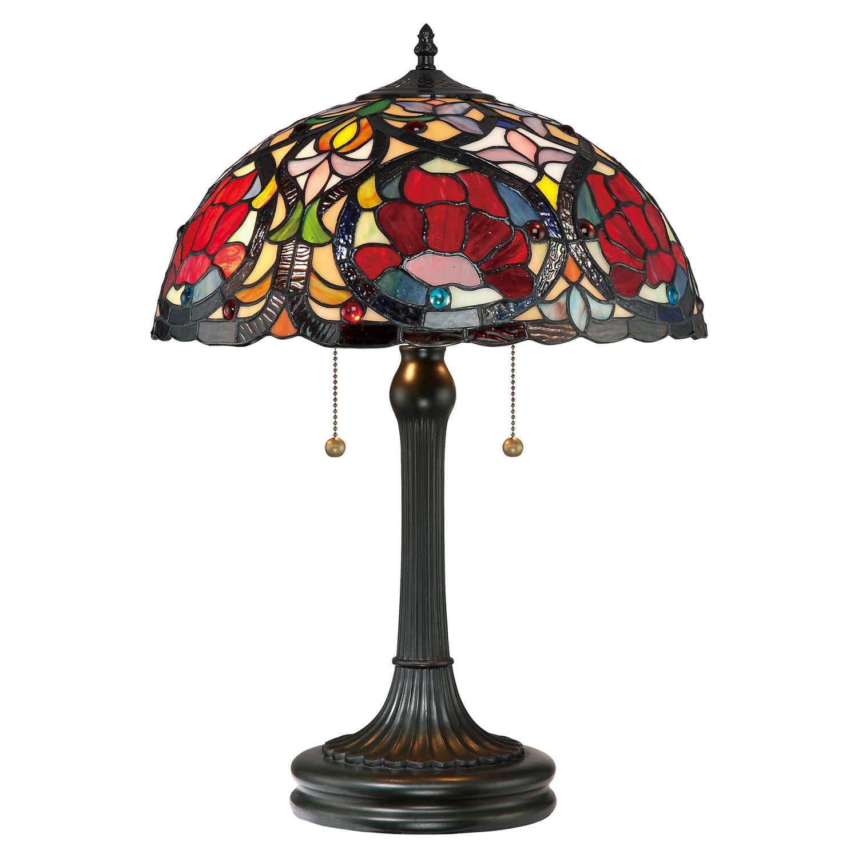 Tischlampe FARFALLA 8 Buntglas 58cm Tiffany Lampe