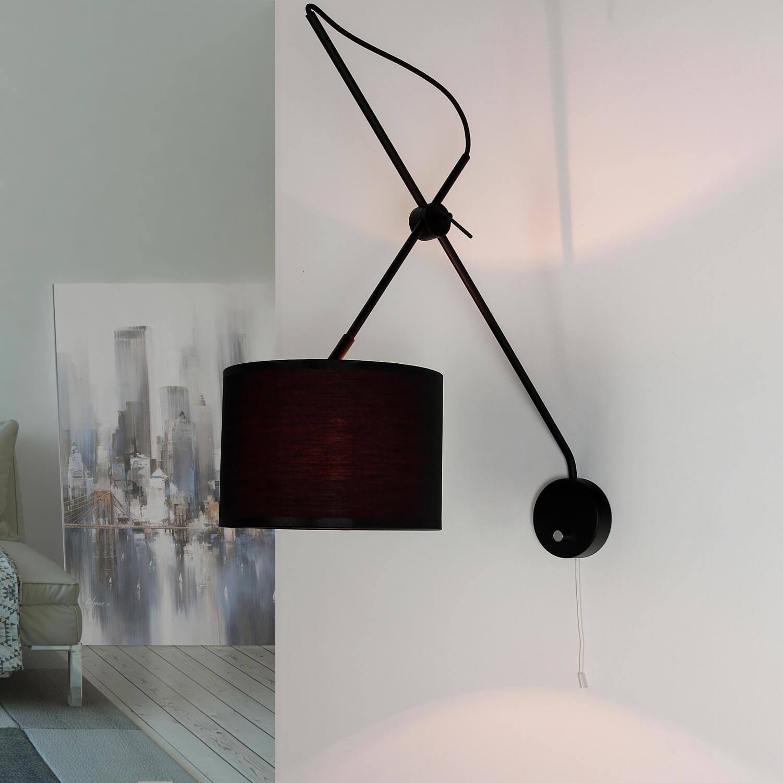 Wandlampe mit Schalter Schwarz Gold VIPER flexibel