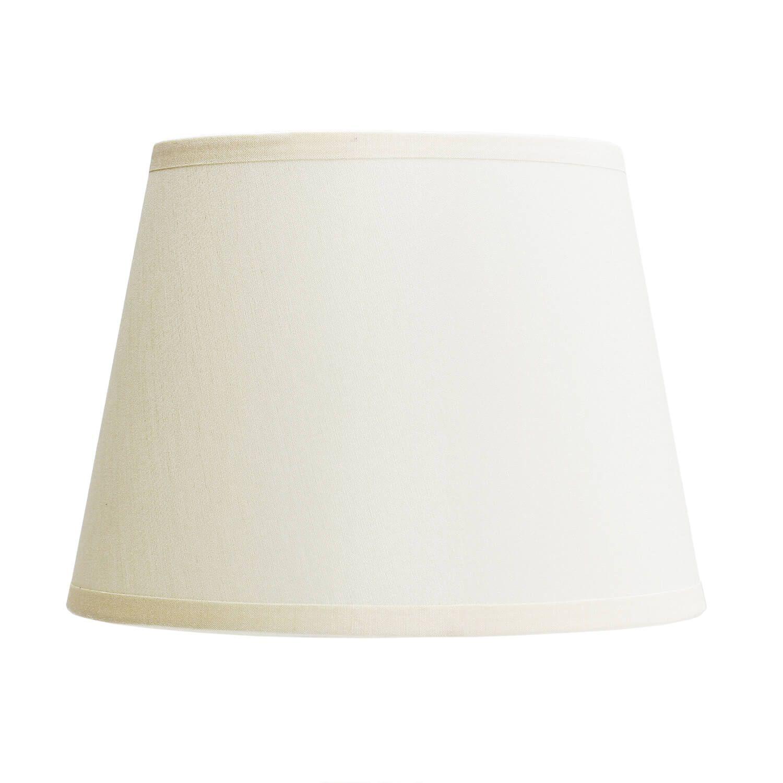 Stoff Lampenschirm MAJA Weiß konisch für Stehleuchten E27
