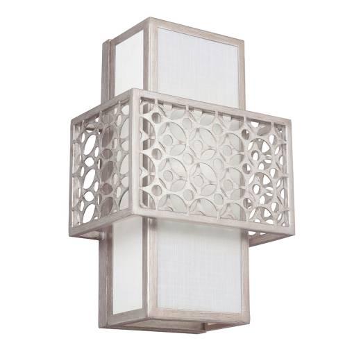 Wandlampe BIRO Silber Weiß eckig Design Lampe Flur