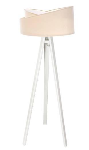 Lampe Stehlampe Holzleuchte Creme Weiß Wohnzimmer