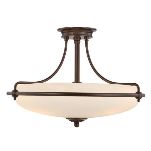 Design Deckenleuchte ASPERO Bronze 4-flmg Lampe