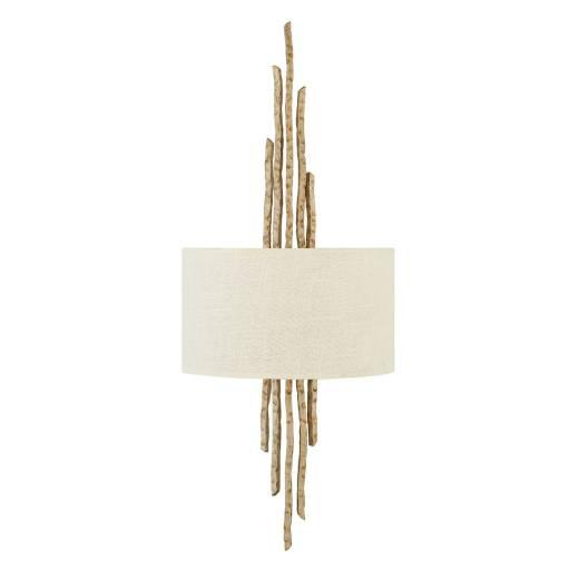 Wandleuchte PALINA Creme Gold B:30cm 2-flmg Lampe