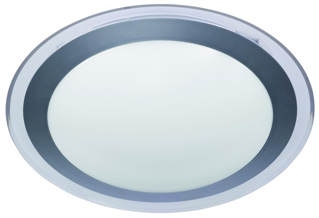 LED Deckenleuchte mit Ring in silber