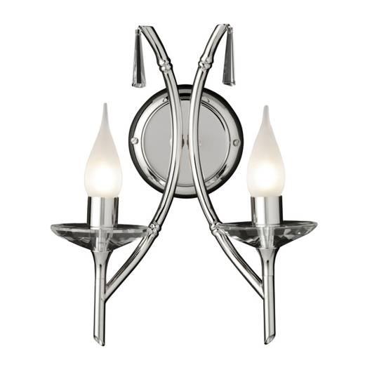 Rustikale Wandlampe LED in Nickel edles Design Flur