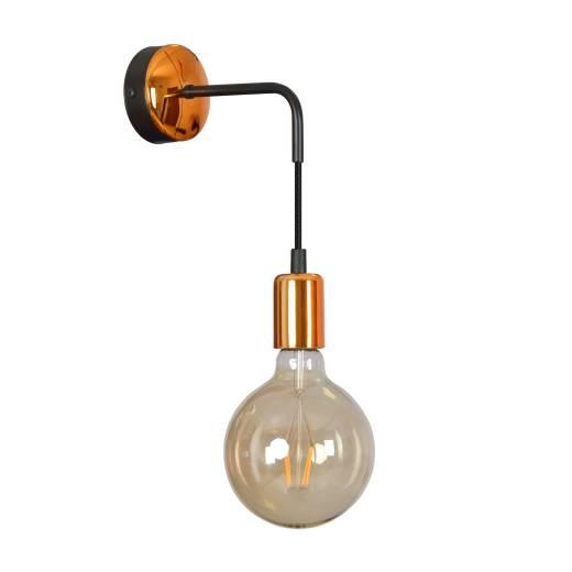 Wandlampe Schwarz Kupfer Loft Retro Industrie E27
