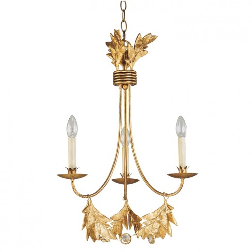 Kronleuchter YAGMUR vergoldet kürzbar Ø51cm Lampe