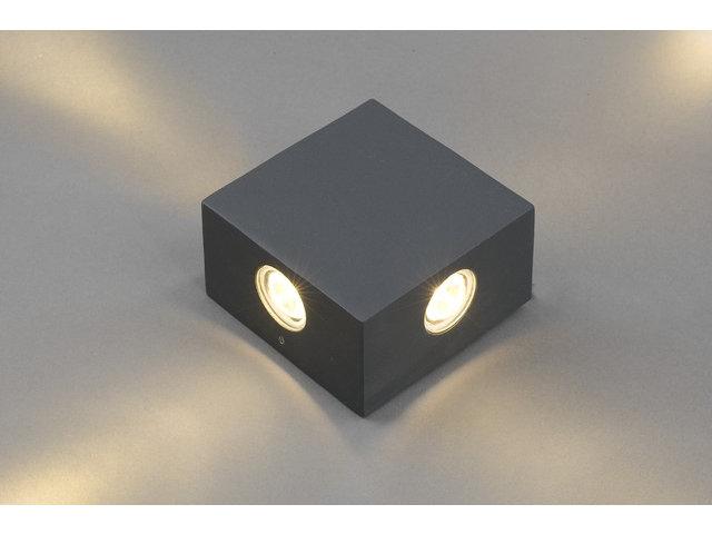 Moderne quadratische LED Außenleuchte Wandleuchte