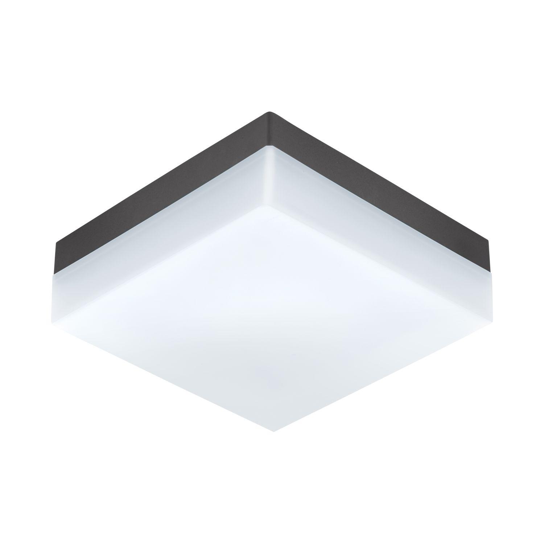Eckige LED Deckenaußenleuchte Sonella Weiß