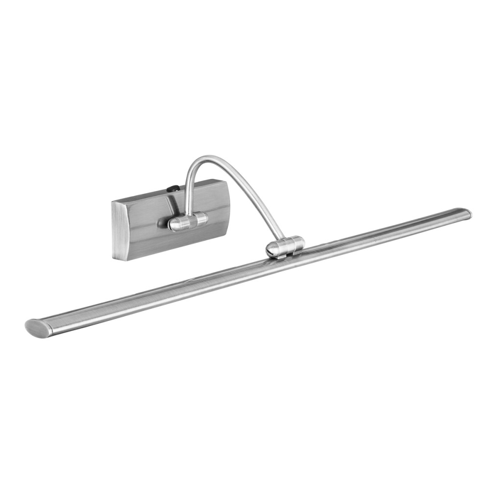 Moderne LED Wandleuchte in Silber