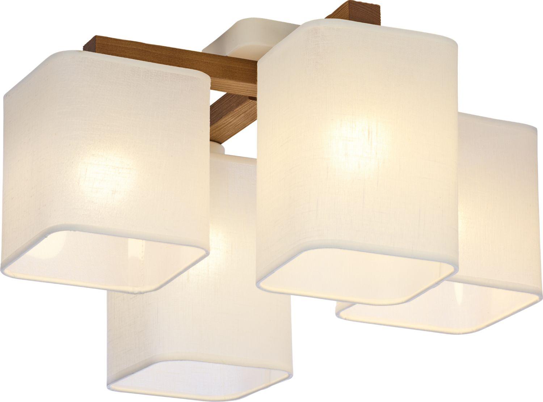 Deckenleuchte IMALE in Weiß Holz Wohnzimmer Lampe