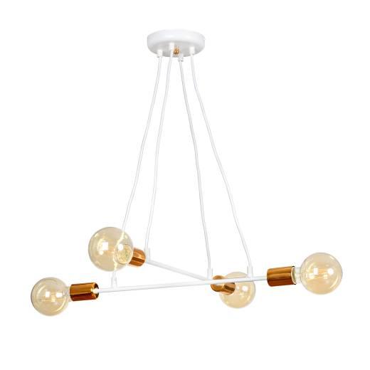 Esstischlampe Weiß Kupfer Retro Design Ø56cm ZETA