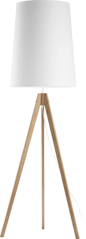 Stehlampe Weiß Holz 165cm Wohnzimmer Büro Lampe