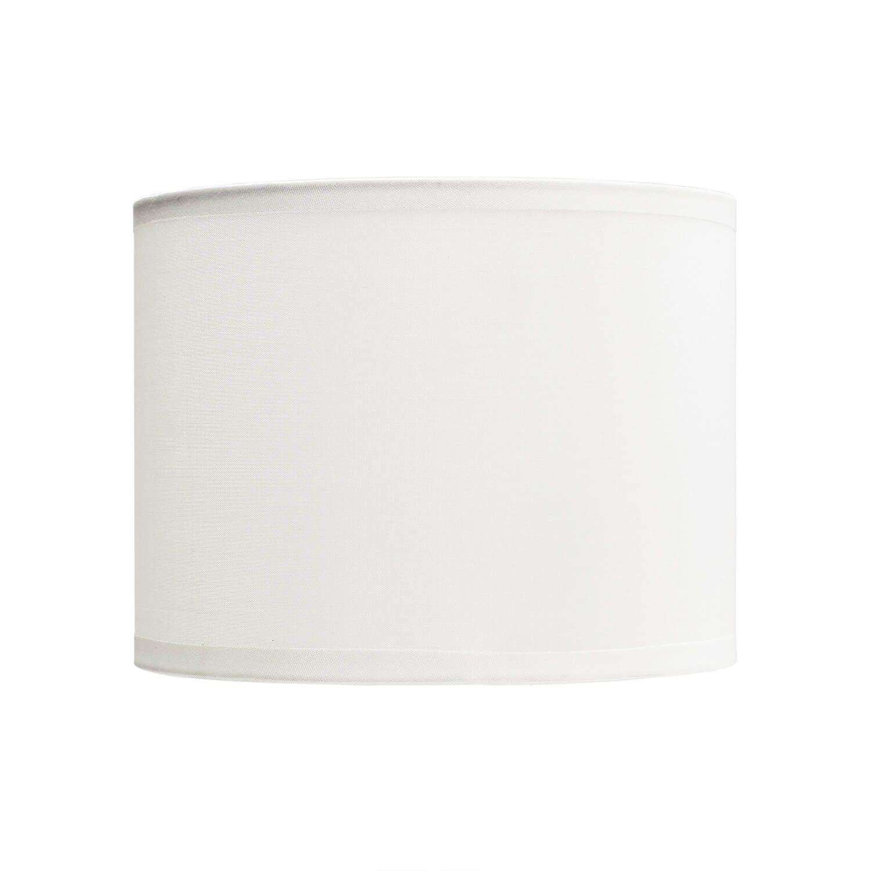Lampenschirm Stoff Zylinder Weiß für E14 Tischlampe