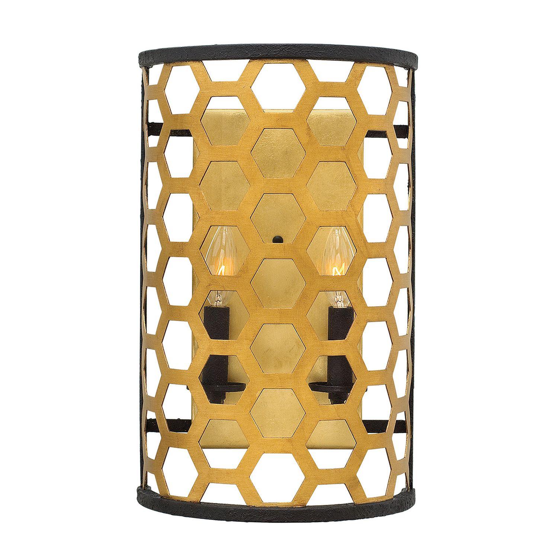 Wandlampe CELLA in Gold Schwarz Modern Lampe Flur