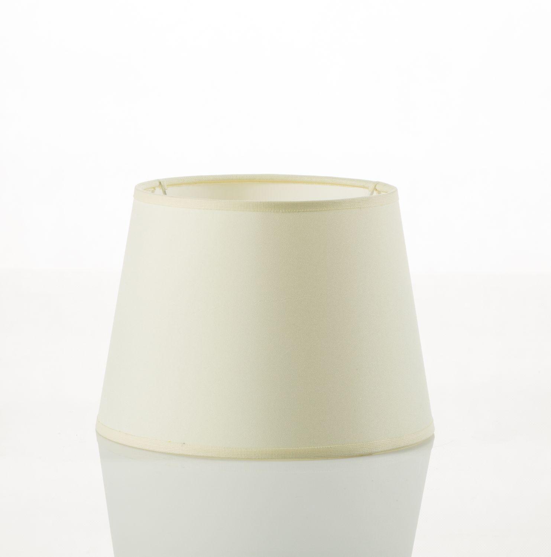 Kleiner Lampenschirm Tischleuchte Stoff Weiß E14