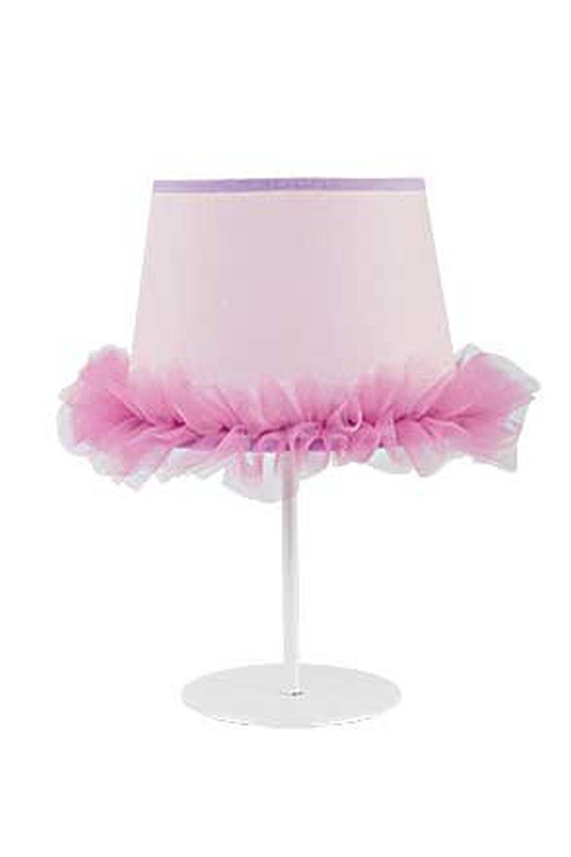 Nachttischlampe Rosa Pink Stoff Schirm Mädchen
