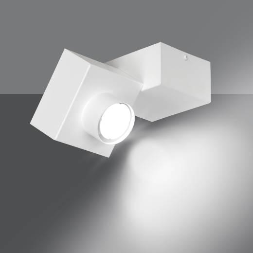 Weiße Deckenlampe Baustein Design eckig Modern GU10