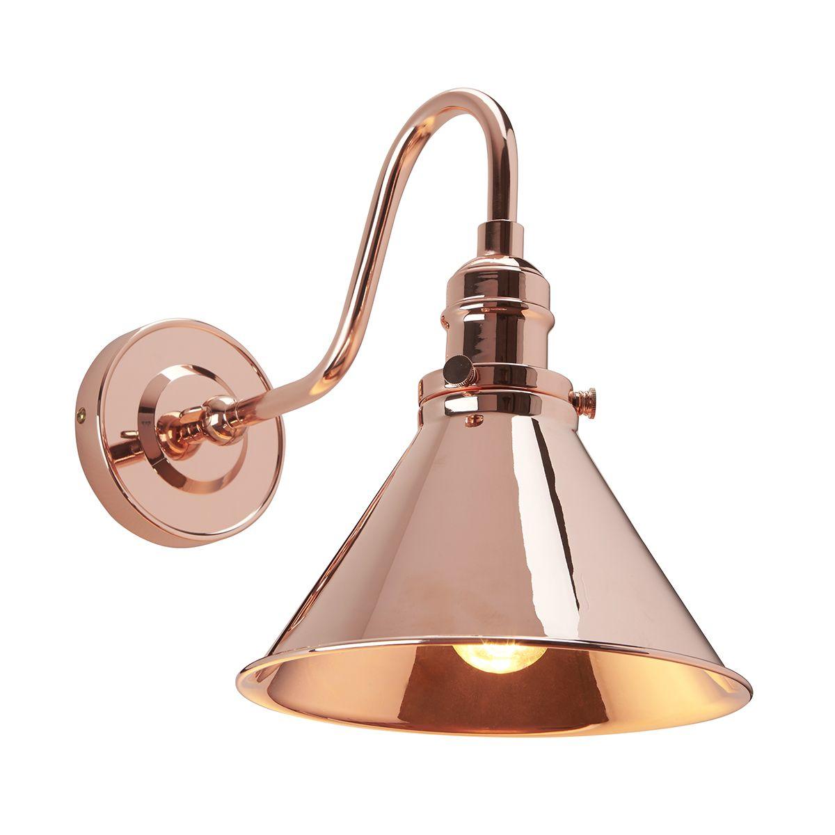 Wandlampe ISMENE in Kupfer Industrie Leseleuchte