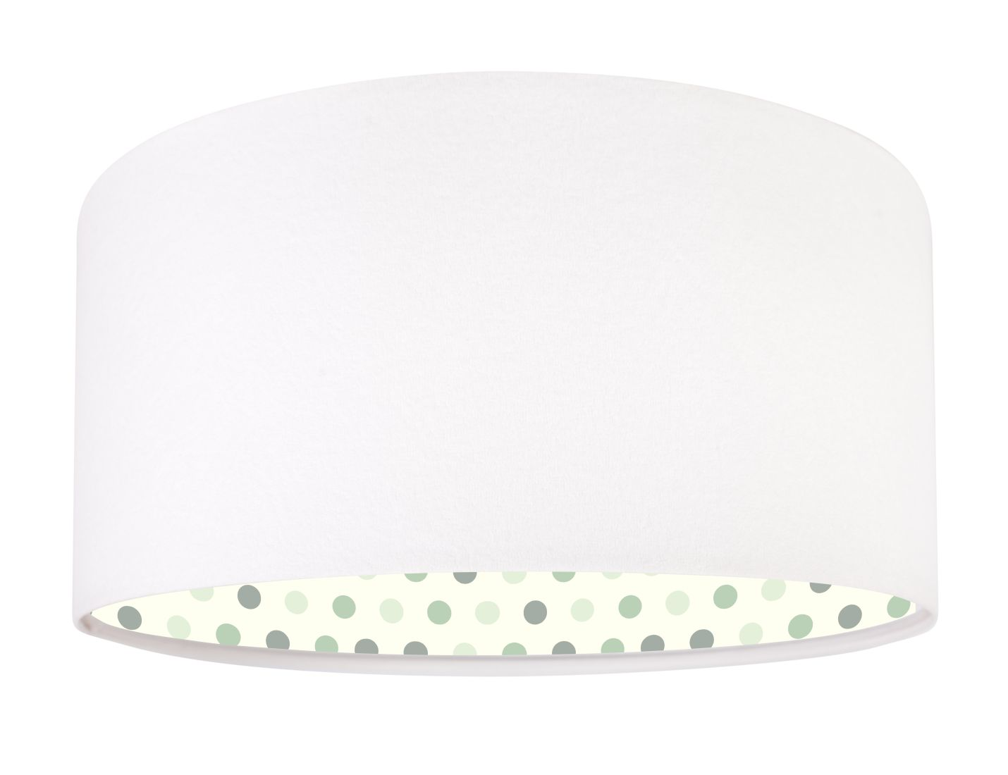 Pendelleuchte Stoff Weiß Grün Kinderzimmer