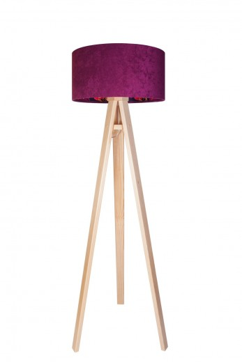 Stehlampe Holz Beere Bunt Dreibein 140cm Retro