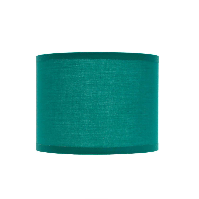 Lampenschirm Petrol Stoff Ø17cm für E14 Tischleuchte