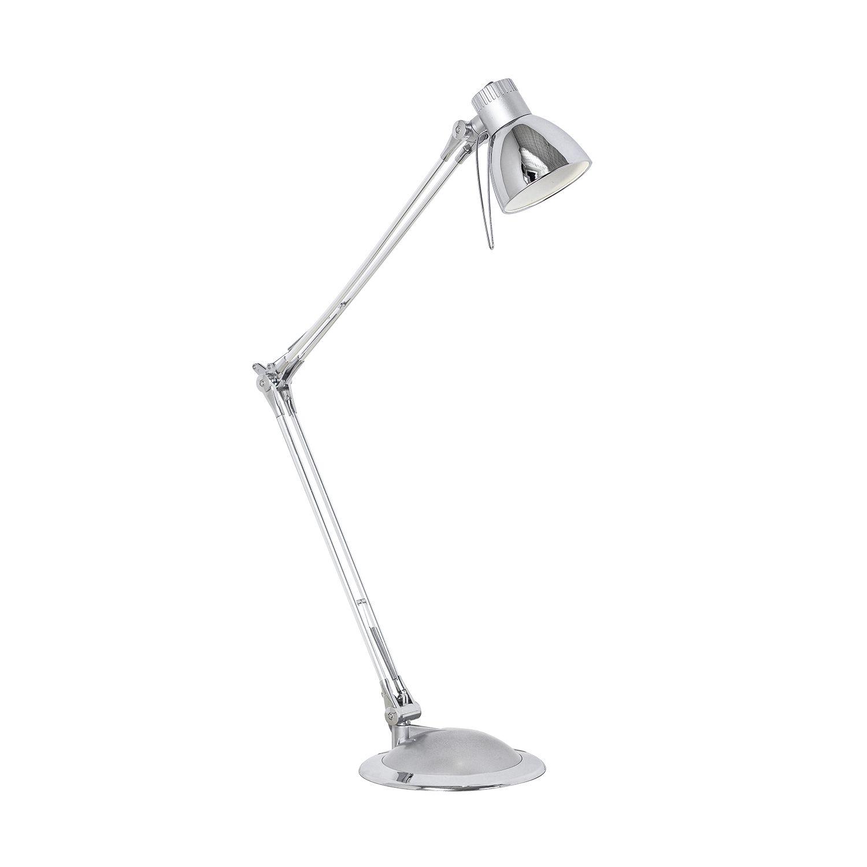 Außergewöhnliche Tischleuchte Plano LED Chrom