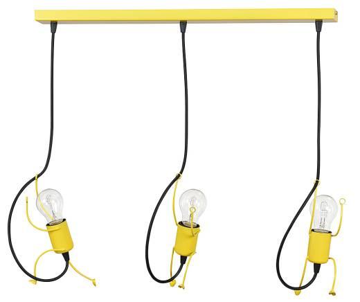 Hängeleuchte Gelb 3-flammig Für Kinder MOLLY