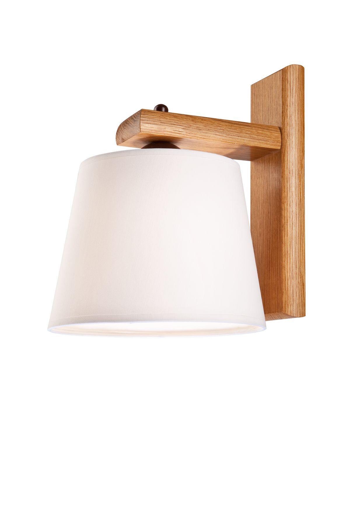 Wandleuchte Schirm Holz wohnlich BEVERELY Lampe