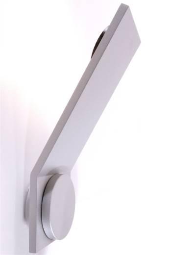 LED Wandleuchte Obtuso in matt silber
