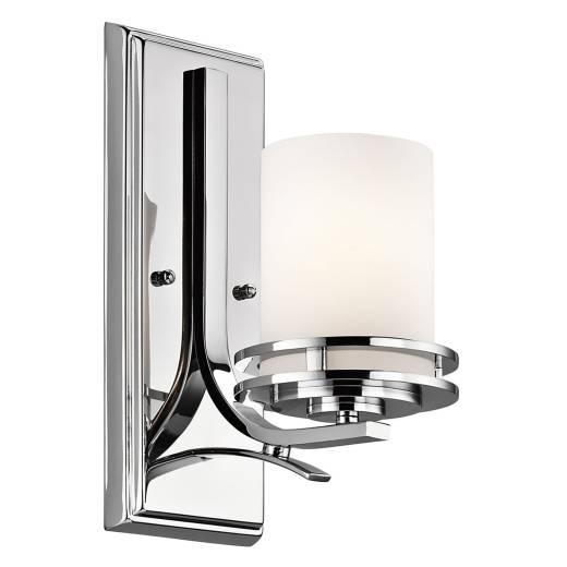 LED Badlampe IP44 spritzwasserdicht Chrom Weiß blendarm