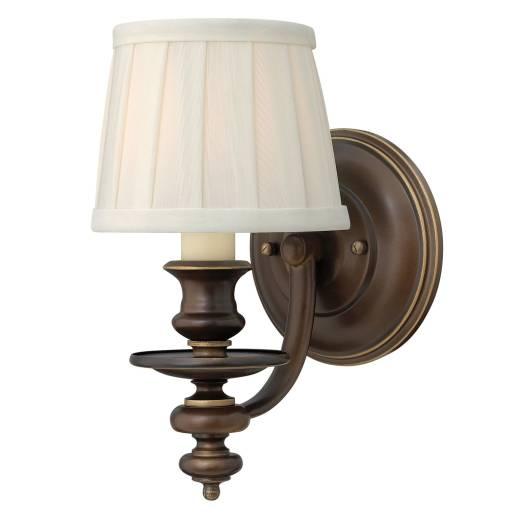 Wandleuchte ANABELL 2 Bronze Leinen Rustikal Lampe