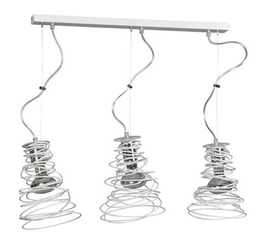 Design Hängeleuchte Spirale Weiß 3-flammig E27