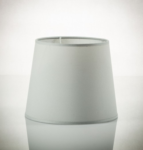 Lampenschirm Grau Pendelleuchte E27 Stoff WILLOW