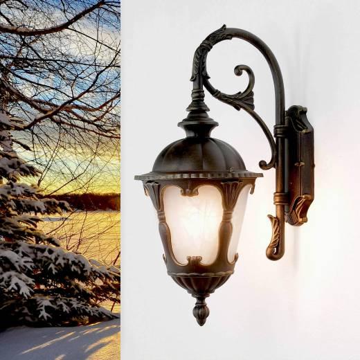 Antike Außenwandleuchte LED Wandlaterne wetterfest