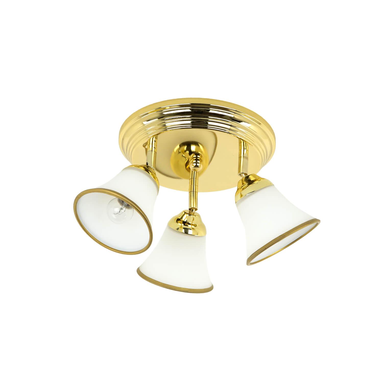 Jugendstil Deckenlampe in Gold Flur Bad