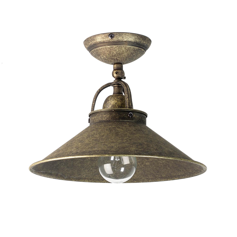 Deckenleuchte Vintage aus Messing in Bronze Antik