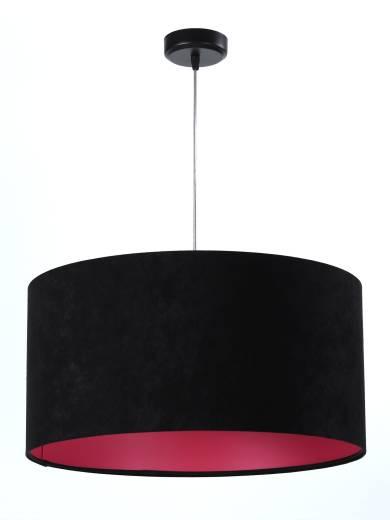 Hängeleuchte Stoff Schwarz Pink Retro Esstisch