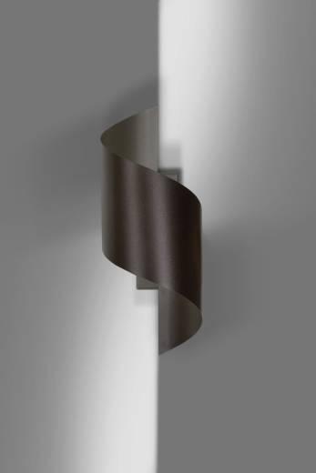 Stylische Wandleuchte Metall Braun Up Down G9